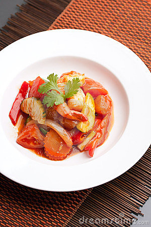 Thai Sweet and Sour Shrimp