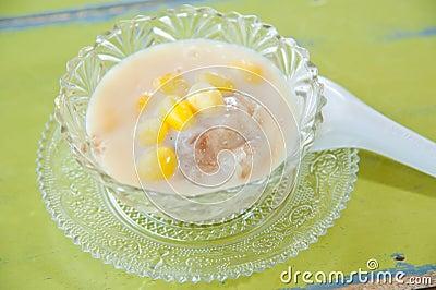 Thai sweetmeat with colorful ball : Bua Loi