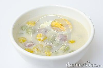 Thai sweetmeat name Bua Loi