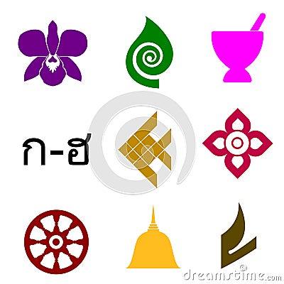 Free Thai Symbols Stock Image - 7559991