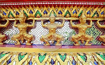 Thai temple giant mosaic