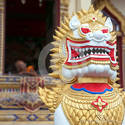 Thai temple lion