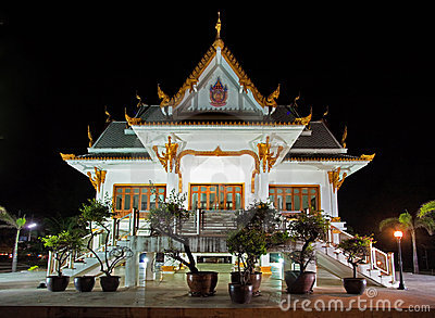 Thai temple at night