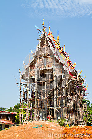 Thai temple in progress