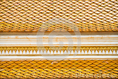 Thai temple roof, Wat Prathatnongbua