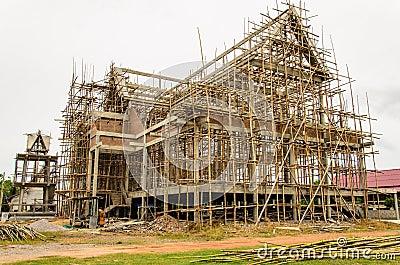 Thai temple under construction.