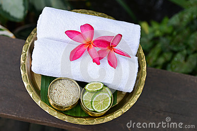 Thai Traditional body care set and towel