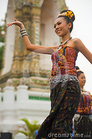 Thai Traditional Dancer Performance Editorial Stock Image