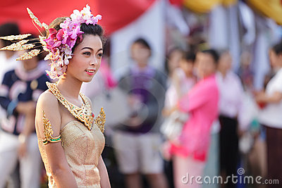 Thai traditional festival Editorial Stock Photo
