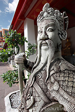 Thai Warrior Sculpture