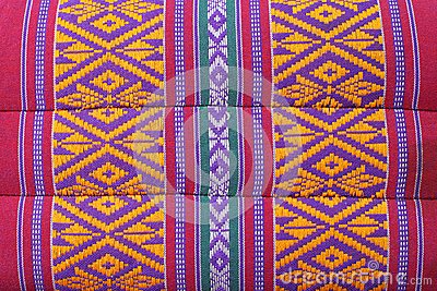Thai Weave fabric pillow