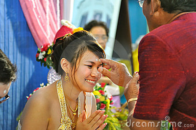 Thai Wedding Editorial Stock Photo