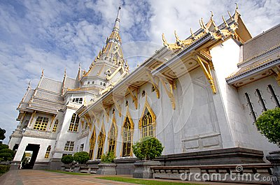 Thai white marble temple