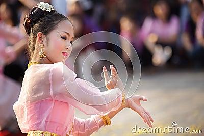 Thai woman dancer Editorial Image