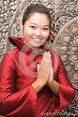 Free Thai Woman Greeting Stock Image - 6160761