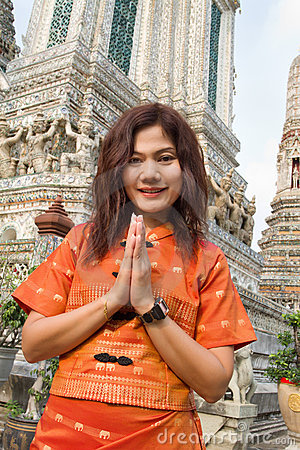 Thai woman praying