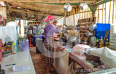 Thai woman preparing food Editorial Photo