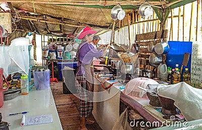 Thai woman preparing food Editorial Photo