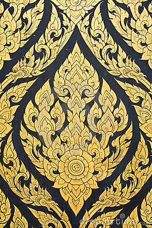 Free Thai Writing Patterns. Royalty Free Stock Images - 16718779