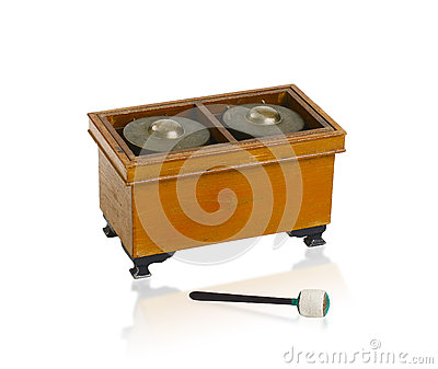 Thai xylophone bass sounded music instrument