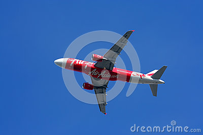Thaiairasia take off Editorial Stock Image