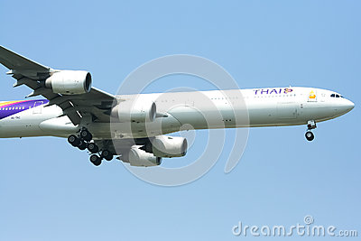 A340-600 of Thaiairway Editorial Stock Photo