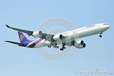 A340-600 of Thaiairway Editorial Stock Photo