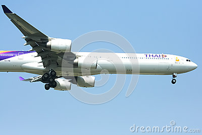 A340-600 of Thaiairway Editorial Photo