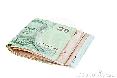 Thaibaht banknotes money