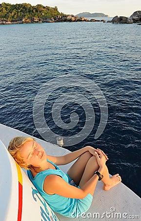 Thailand. Andaman sea.  Beautiful girl