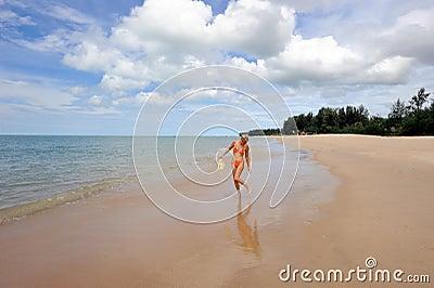 Thailand. Andaman sea. Ko Kho Khao island. Girl