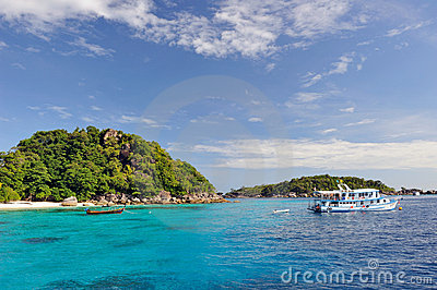 Thailand. Andaman sea. Similan. Diving boat