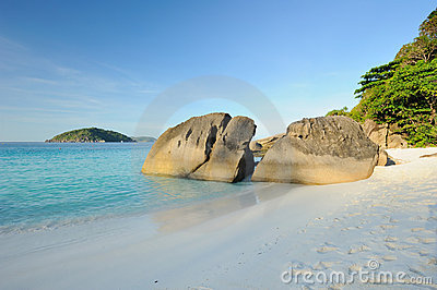 Thailand. Andaman sea. Similan islands. Sand beach