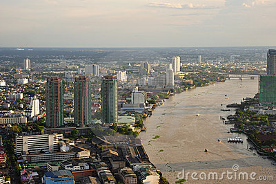 Thailand Bangkok city sky view