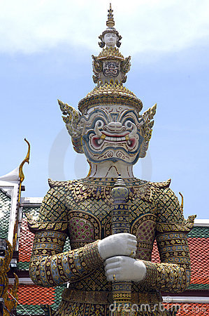 Free Thailand, Bangkok: Grand Palace S Statue Royalty Free Stock Images - 4817549