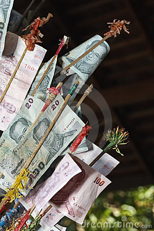 Thailand, Bangkok, ocal money (baht)