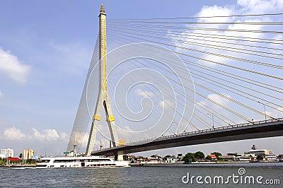 Thailand, Bangkok: Rama VIII Bridge