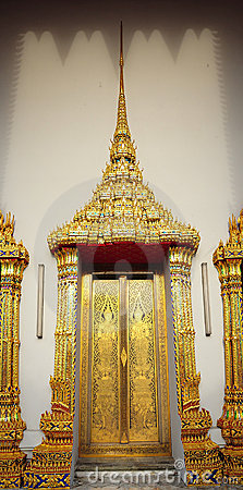 Thailand Bangkok Wat Pho Temple golden door