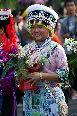 Thailand Chiang Mai Flower festival Editorial Photo