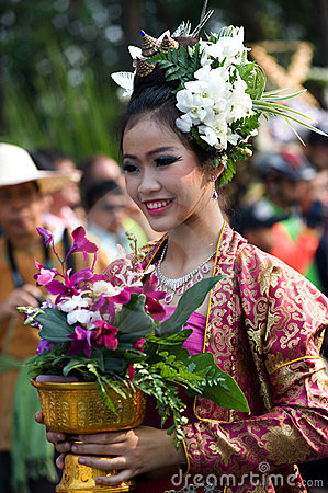 Thailand Chiang Mai Flower festival Editorial Stock Photo