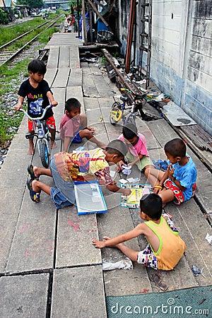 Thailand Children Editorial Stock Image