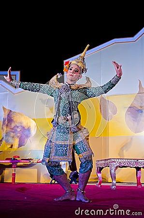 "Thailand Dancing art called ""Khon"" Editorial Stock Photo"
