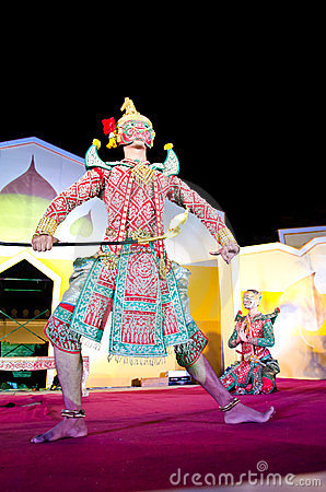 "Thailand Dancing art called ""Khon"" Editorial Stock Photo"