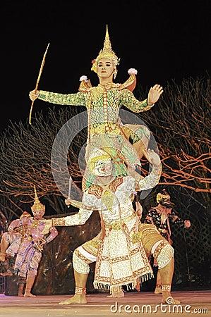 Thailand Dancing art called Khon, an high-class Editorial Image