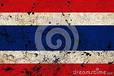Thailand dirty old grunge flag