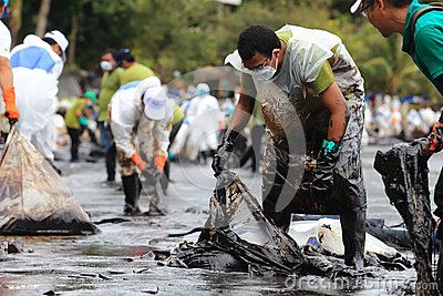 THAILAND-ENVIRONMENT-OIL-POLLUTION Editorial Stock Image