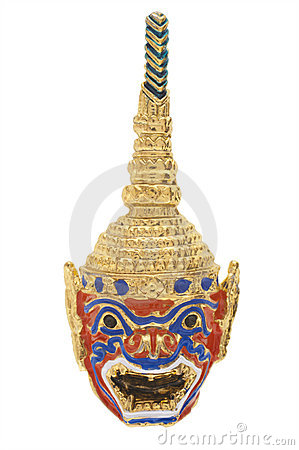 Thailand gold mask