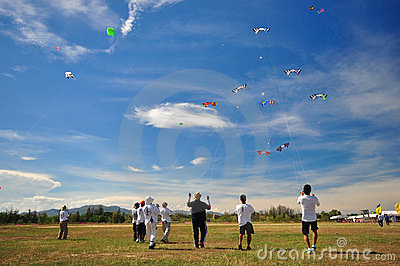 Thailand International Kite Festival 2012 Editorial Photography