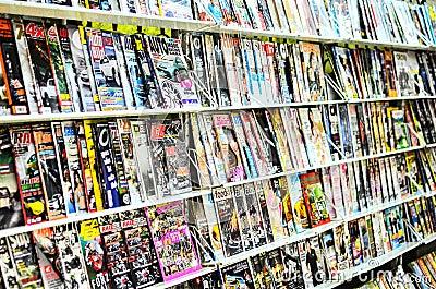 Thailand magazine shop. Editorial Stock Photo