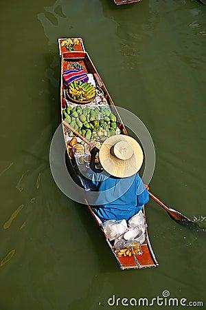 Free Thailand Markets Longboat Royalty Free Stock Photos - 524388
